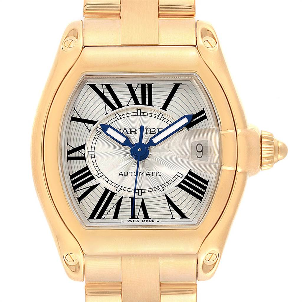 22462 Cartier Roadster 18K Yellow Gold Large Mens Watch W62005V1 SwissWatchExpo