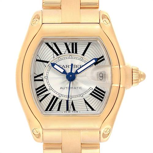 Photo of Cartier Roadster 18K Yellow Gold Large Mens Watch W62005V1