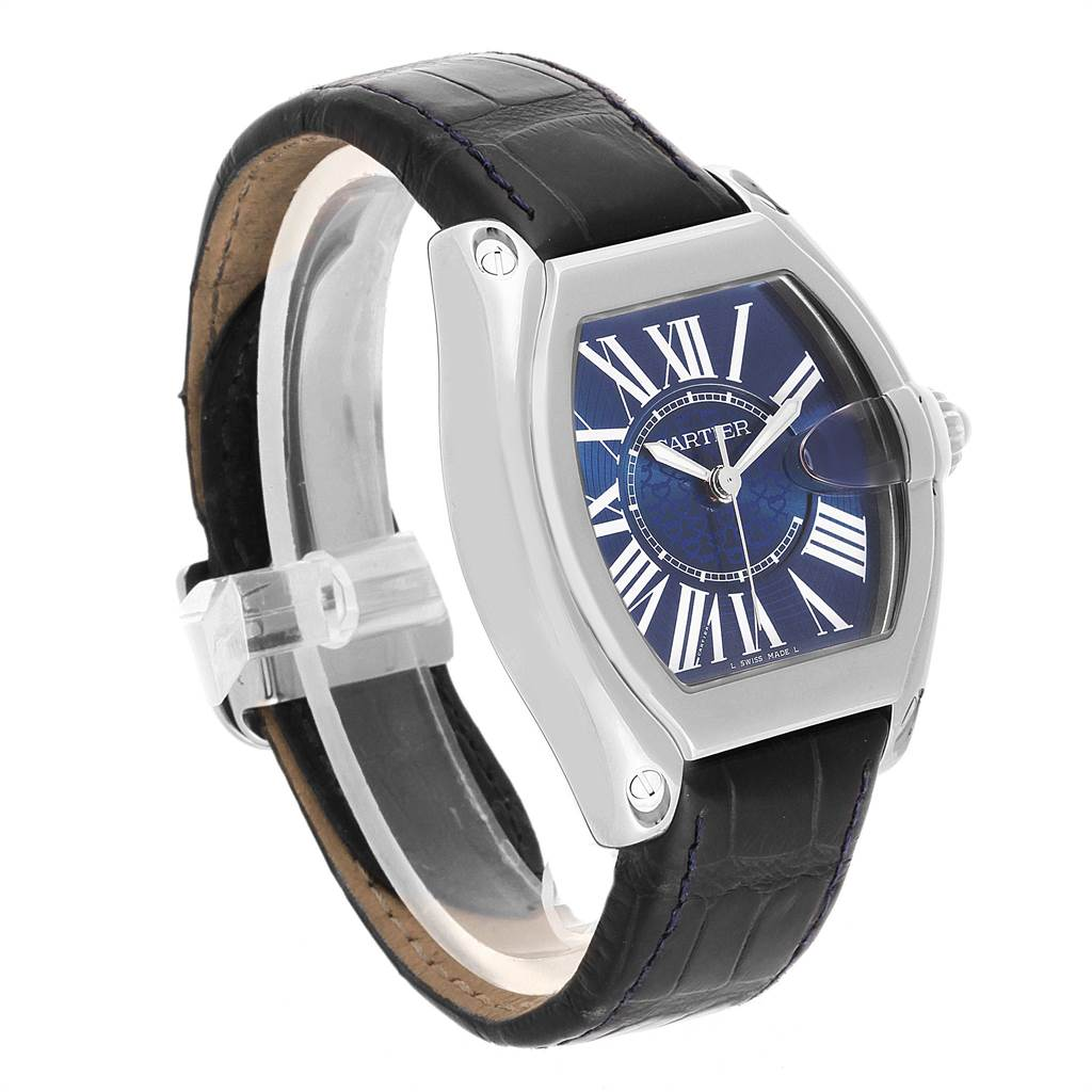 22473 Cartier Roadster XL 100th Anniversary Blue Dial LE Mens Watch W6206012 SwissWatchExpo