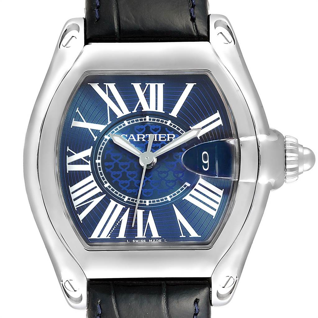 Cartier Roadster XL 100th Anniversary Blue Dial LE Mens Watch W6206012 SwissWatchExpo