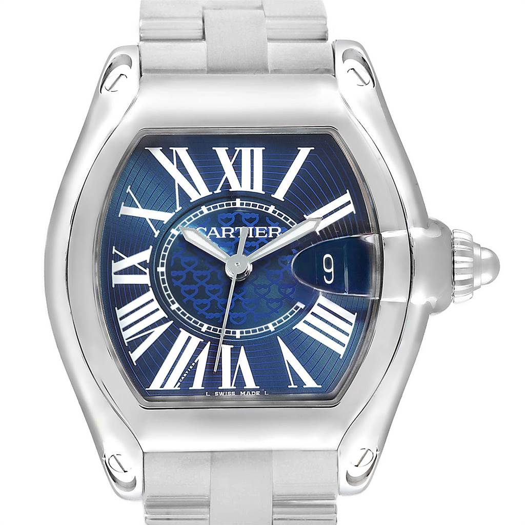 Cartier Roadster XL 100th Anniversary Blue Dial Mens Watch W6206012 SwissWatchExpo