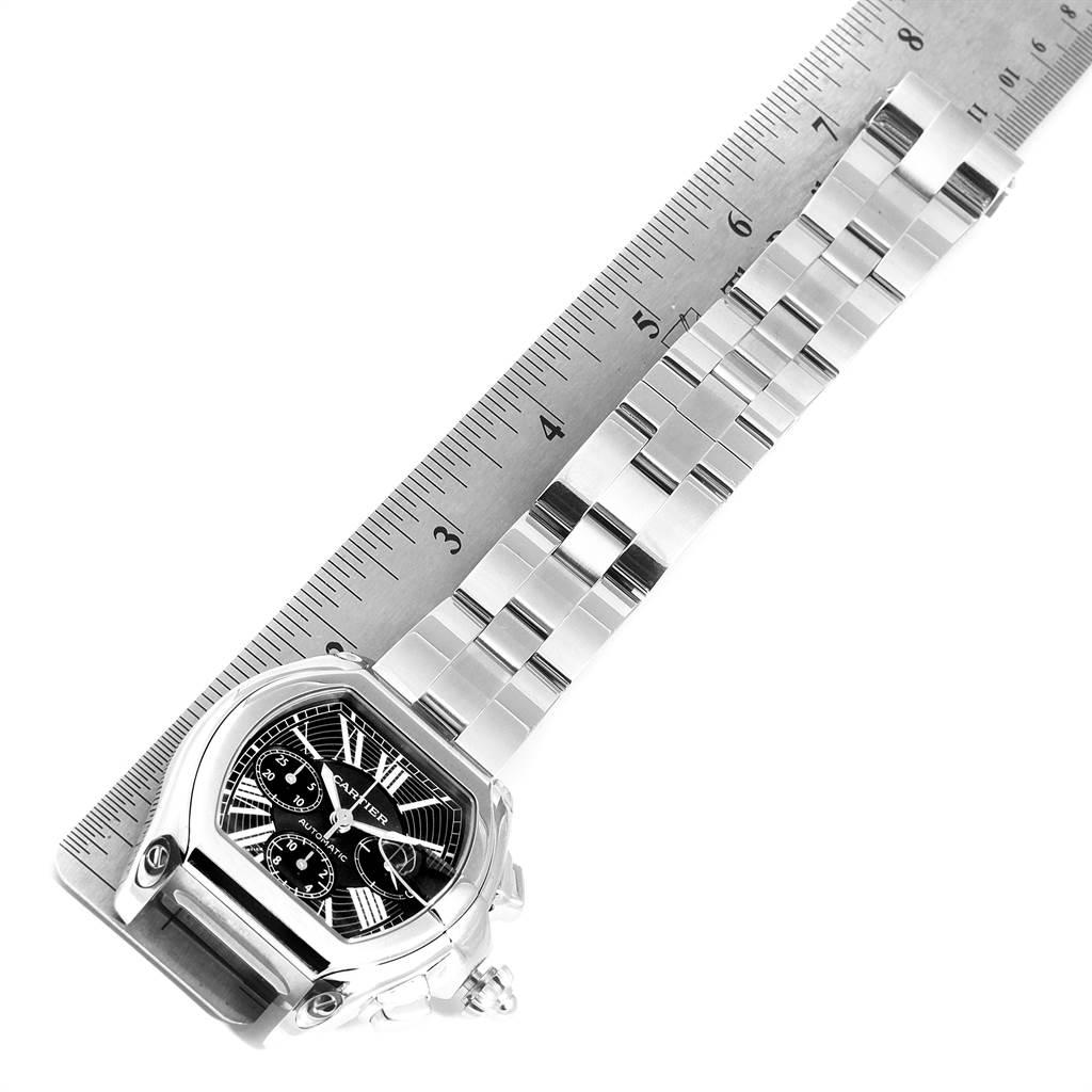 22906 Cartier Roadster XL Chrono Black Dial Automatic Mens Watch W62020X6 SwissWatchExpo
