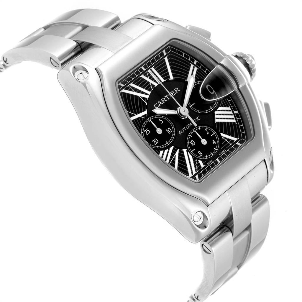 23305 Cartier Roadster XL Chrono Black Dial Automatic Mens Watch W62020X6 SwissWatchExpo