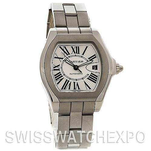 2535 Cartier Roadster Steel Mens Large W6206017 Watch SwissWatchExpo
