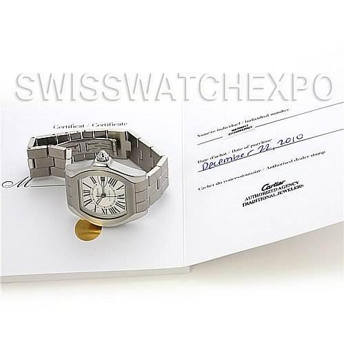 Cartier Roadster Steel Mens Large W6206017 Watch SwissWatchExpo