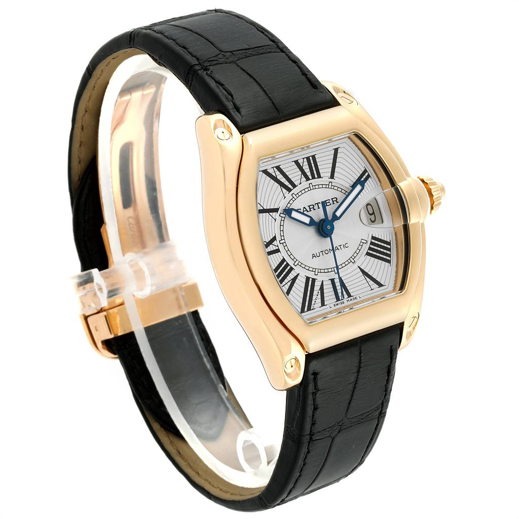24612 Cartier Roadster Yellow Gold Large Mens Watch W62005V2 Box Papers SwissWatchExpo