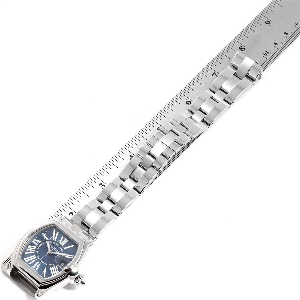 25162 Cartier Roadster XL 100th Anniversary Blue Dial Mens Watch W6206012 SwissWatchExpo