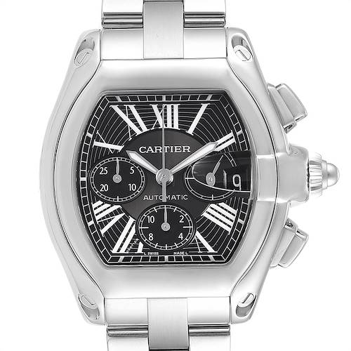 Photo of Cartier Roadster XL Chrono Black Dial Automatic Mens Watch W62020X6