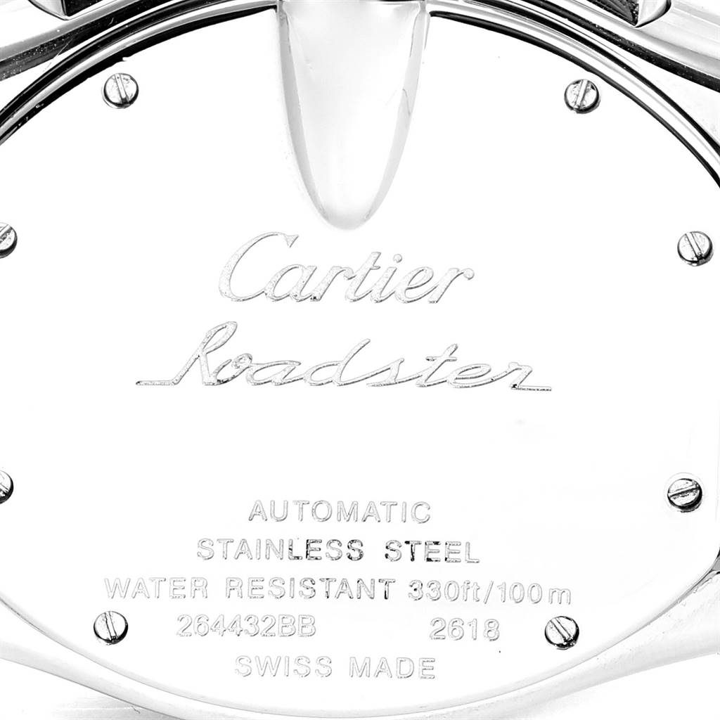 25419 Cartier Roadster XL Chronograph Mens Watch W62019X6 Box Papers SwissWatchExpo