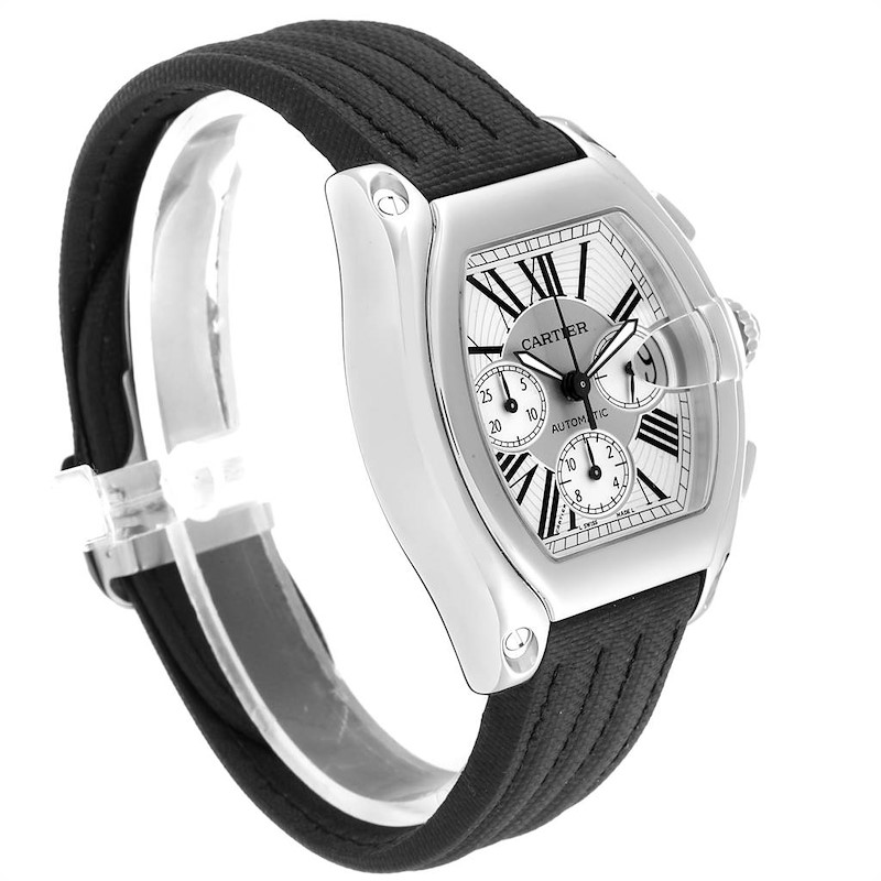 Cartier Roadster XL Chronograph Mens Watch W62019X6 Box Papers SwissWatchExpo