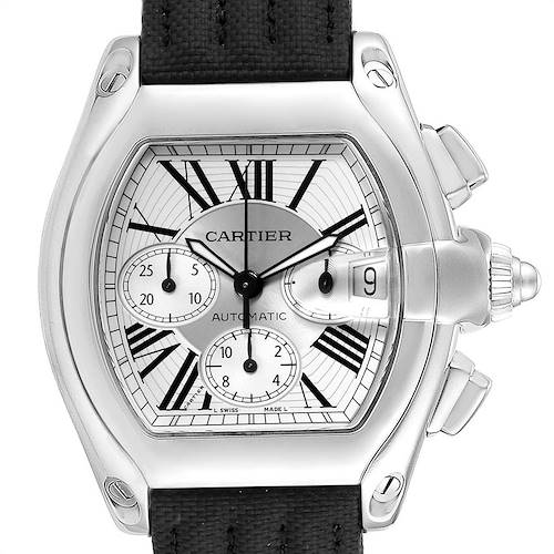 Photo of Cartier Roadster XL Chronograph Mens Watch W62019X6 Box Papers