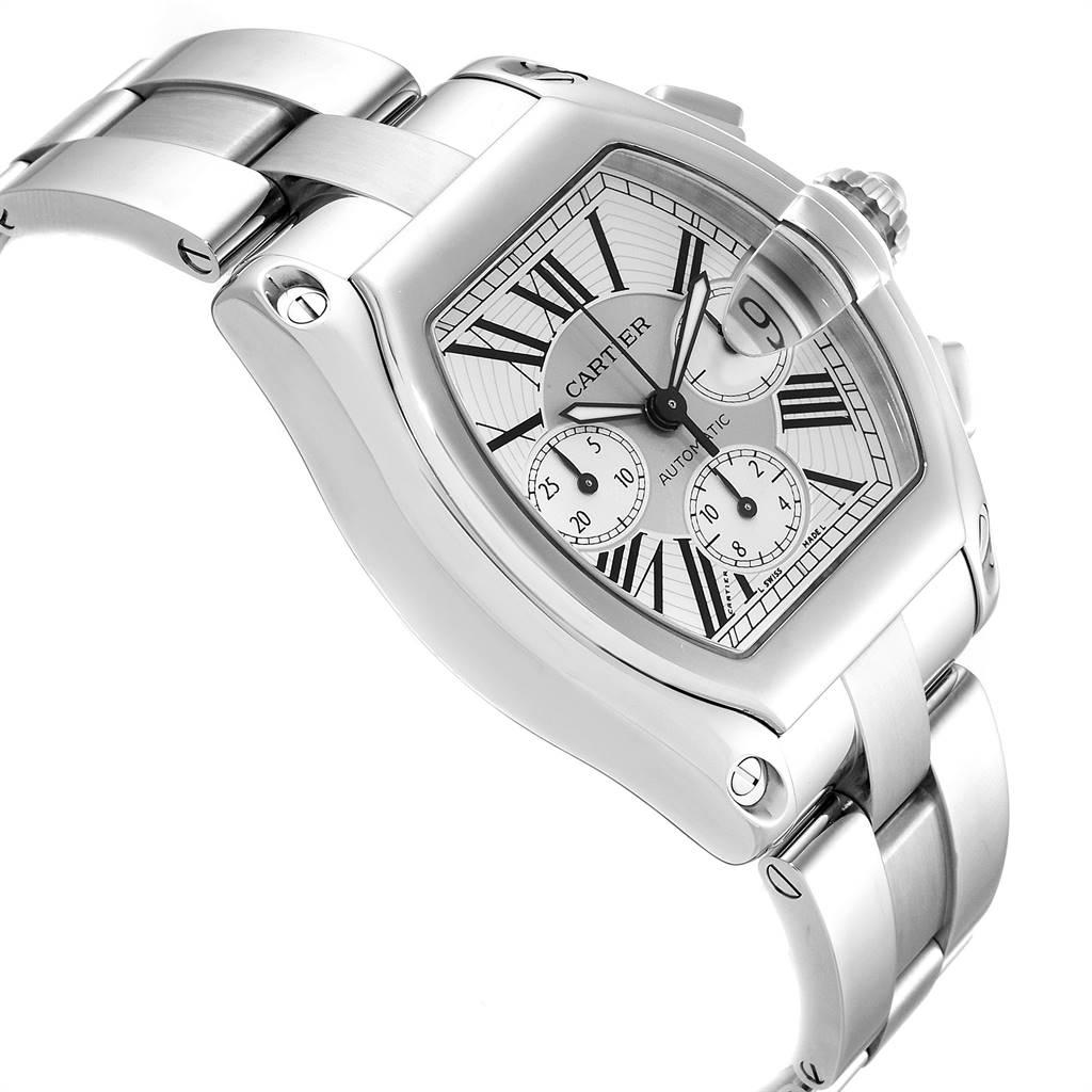 Cartier Roadster XL Chronograph Automatic Mens Watch W62019X6 Box SwissWatchExpo
