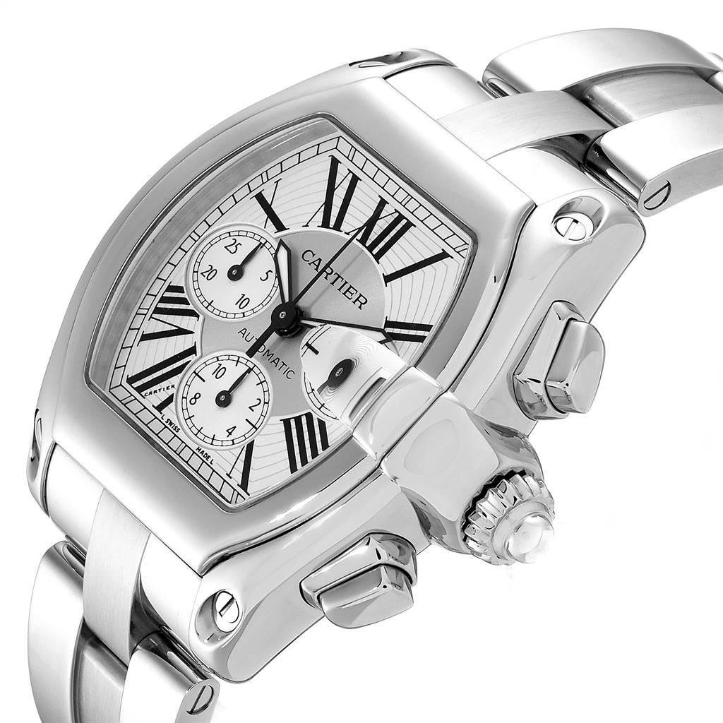25397 Cartier Roadster XL Chronograph Automatic Mens Watch W62019X6 Box SwissWatchExpo