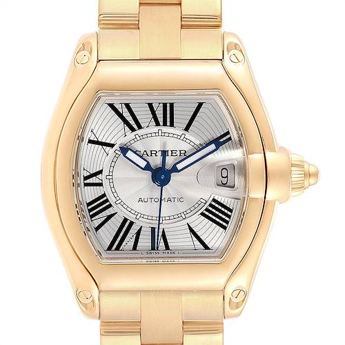 Photo of Cartier Roadster Yellow Gold Large Mens Watch W62005V2 Box Papers
