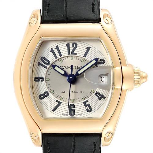 Photo of Cartier Roadster 18K Yellow Gold Large Mens Watch W62005V2