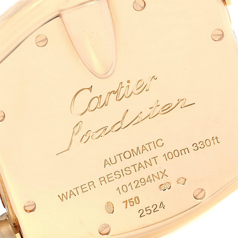 Cartier Roadster 18K Yellow Gold Large Mens Watch W62005V1 SwissWatchExpo
