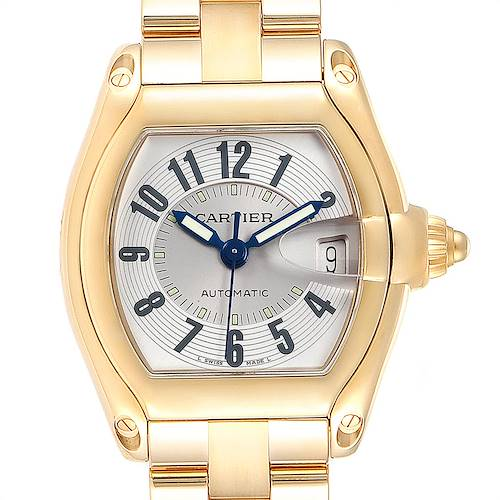 Photo of Cartier Roadster 18K Yellow Gold Large Mens Watch W62003V1