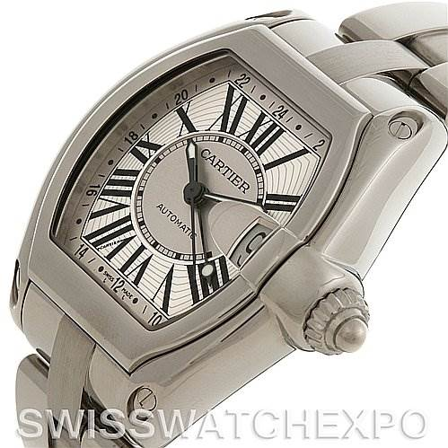 2677 Cartier Roadster Mens X-Large GMT W62032X6 Unworn NOS SwissWatchExpo
