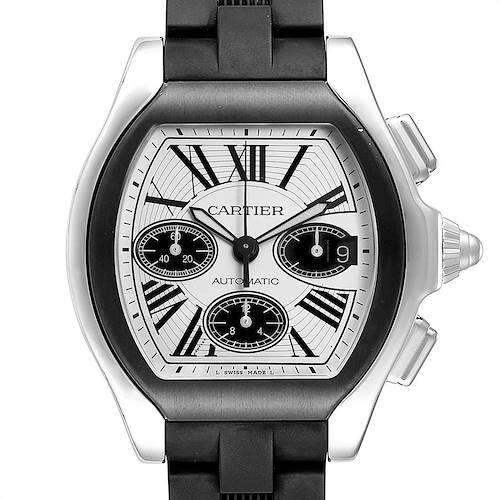 Photo of Cartier Roadster Rubber Strap Chronograph Mens Watch W6206020