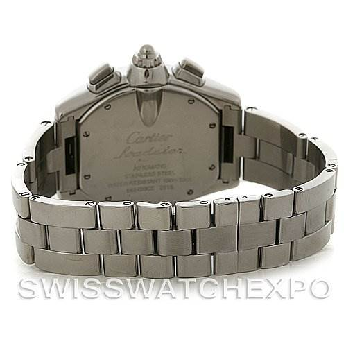 Cartier  Roadster Chronograph Mens W62019X6 Extra Strap SwissWatchExpo