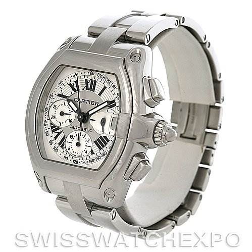 2985 Cartier Roadster Chronograph Mens W62019X6 Watch SwissWatchExpo