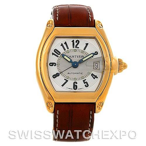 3003 Cartier Roadster Mens 18K Yellow Gold Large W62005V2 Watch SwissWatchExpo