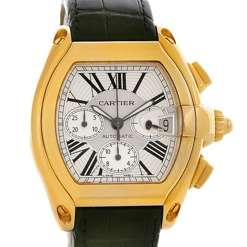 cartier roadster chronograph 18k yellow gold w62021y2 mens