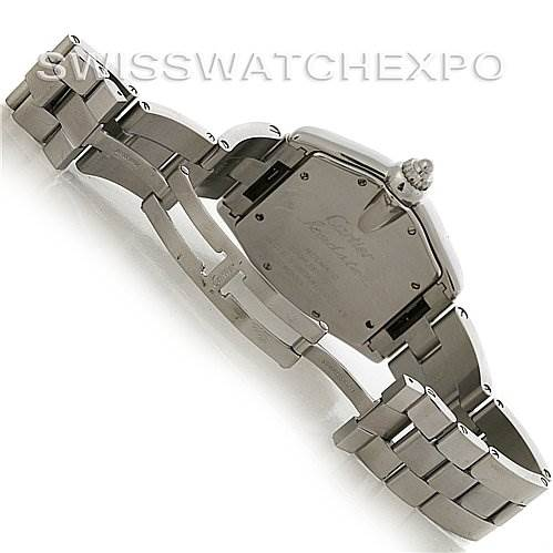 3063 Cartier Roadster Mens Steel Large W62025V3 extra Strap SwissWatchExpo