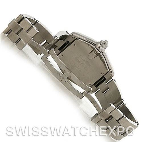 3089 Cartier Roadster Mens Steel Large W62025V3 extra Strap SwissWatchExpo