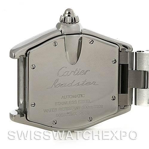 4063 Cartier Roadster Mens Steel Large W62025V3 SwissWatchExpo