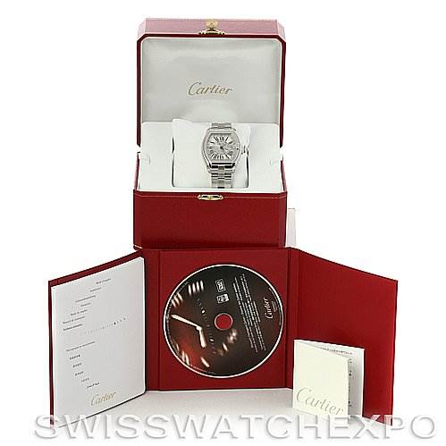 4189 Cartier Roadster Mens X-Large GMT Watch W62032X6 SwissWatchExpo