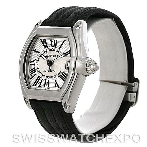4210 Cartier Roadster Steel Automatic Mens Watch W62025V3 SwissWatchExpo