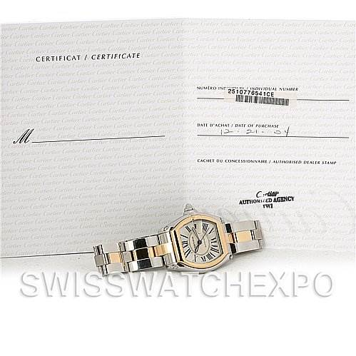 4242 Cartier Roadster 18kt Yellow Gold and Steel Mens Watch W62031Y4 SwissWatchExpo
