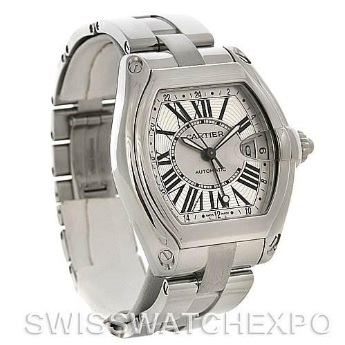 4281 Cartier Roadster Mens X-Large GMT Watch W62032X6 SwissWatchExpo