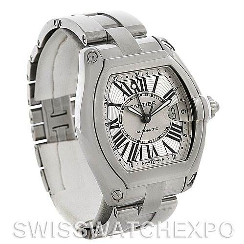 4402 Cartier Roadster Mens X-Large GMT Watch W62032X6 SwissWatchExpo