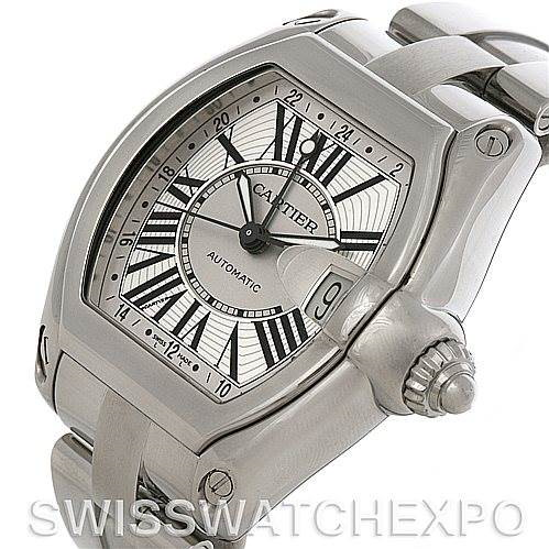 Cartier Roadster Mens X-Large GMT Watch W62032X6 SwissWatchExpo