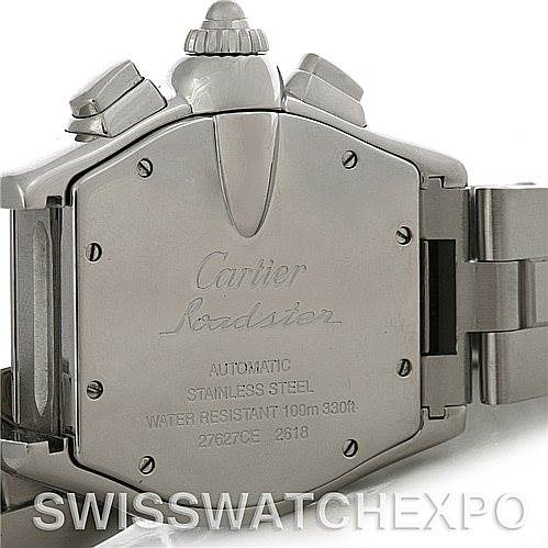 4404 Cartier Roadster Chronograph Mens Watch W62019X6 SwissWatchExpo