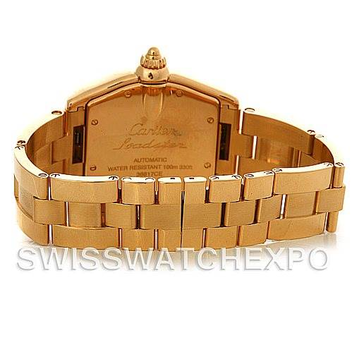 4512 Cartier Roadster Mens 18K Yellow Gold W62005V1 Watch NOS SwissWatchExpo