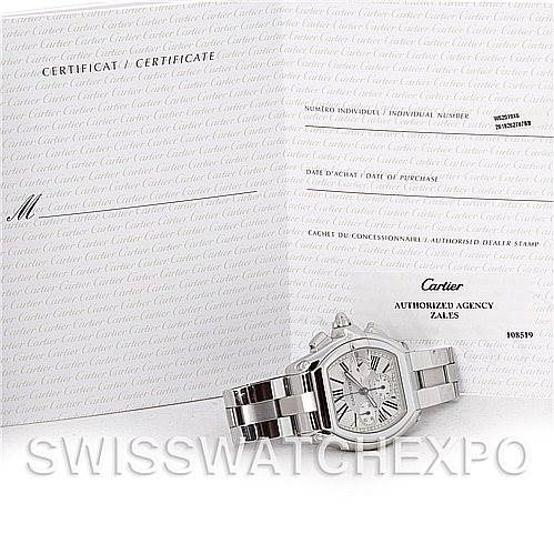4775 Cartier Roadster Chronograph Mens W62019X6 SwissWatchExpo