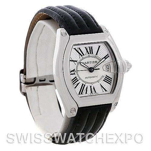 4720 Cartier Roadster Steel Automatic Mens Watch W62025V3 SwissWatchExpo