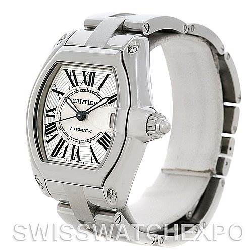 4868 Cartier Roadster Men's Steel Large Watch W62025V3 SwissWatchExpo