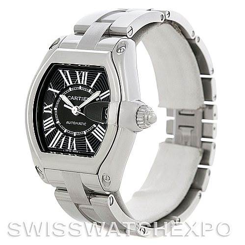 5166 Cartier Roadster Mens Steel Large Watch W62041V3 SwissWatchExpo