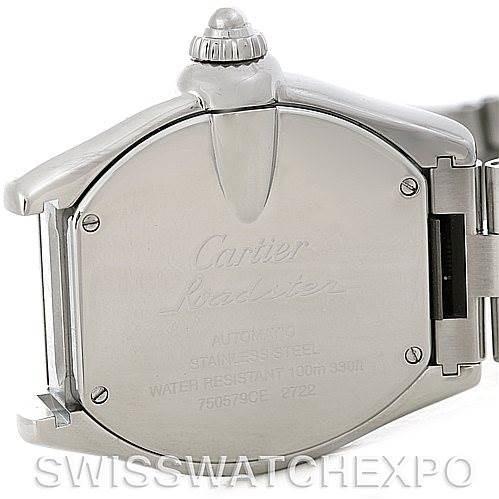 Cartier Roadster Mens X-Large GMT Watch W62032X6 SwissWatchExpo
