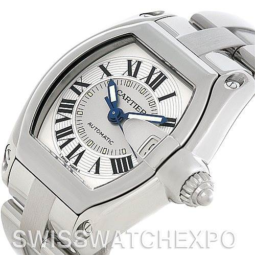 Cartier Roadster Men's Steel Large Watch W62025V3 SwissWatchExpo