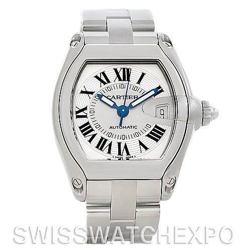 5152 Cartier Roadster Men's Steel Large Watch W62025V3 SwissWatchExpo