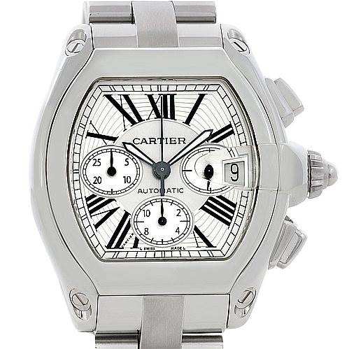 5410 Cartier Roadster Chronograph Mens W62019X6 SwissWatchExpo
