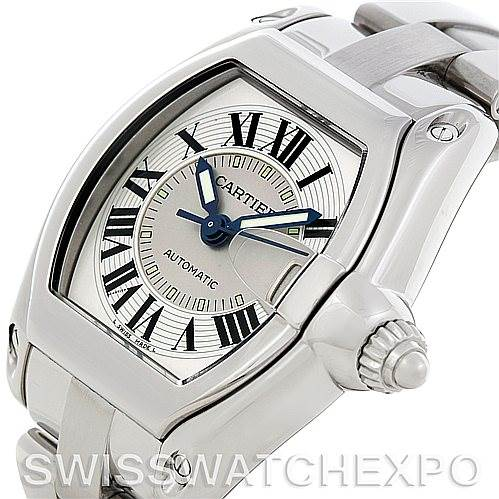 5352 Cartier Roadster Men's Steel Large Watch W62025V3 SwissWatchExpo