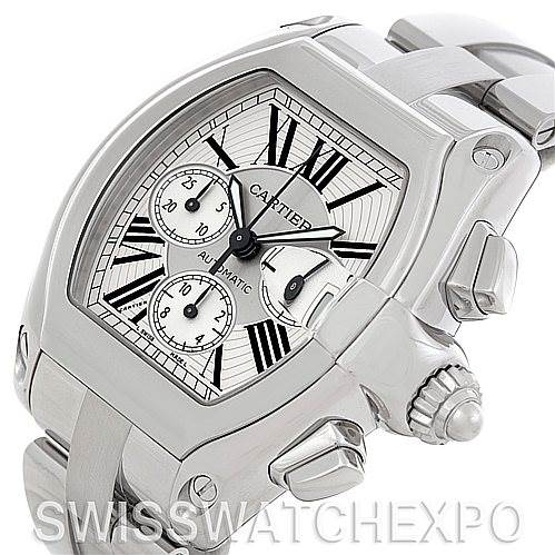 5409 Cartier Roadster Chronograph Mens Watch W62019X6 SwissWatchExpo