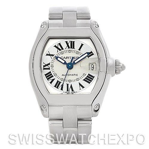 5373 Cartier Roadster Men's Steel Large Watch W62025V3 SwissWatchExpo