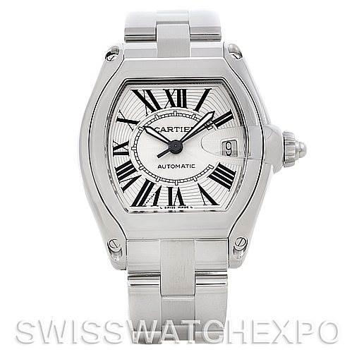 5470 Cartier Roadster Men's Steel Large Watch W62025V3 SwissWatchExpo